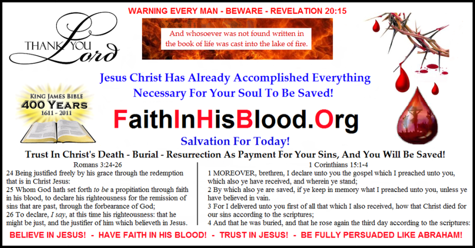 Faith In His Blood . Org